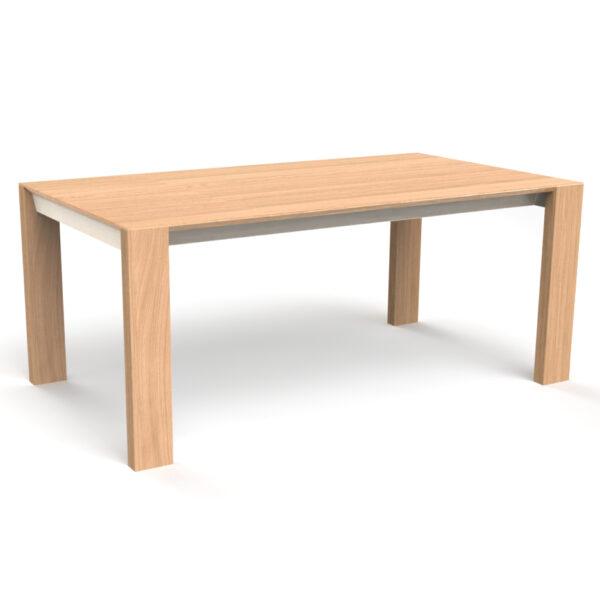 Table de salle à manger 6 à 12 personnes BRUME extensible dessinée et fabriquée chez Meubles Loizeau