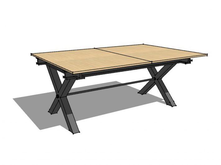 Dessin table atelier Meubles LOIZEAU