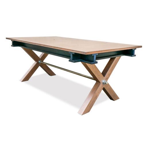 table ATELIER extensible en merisier