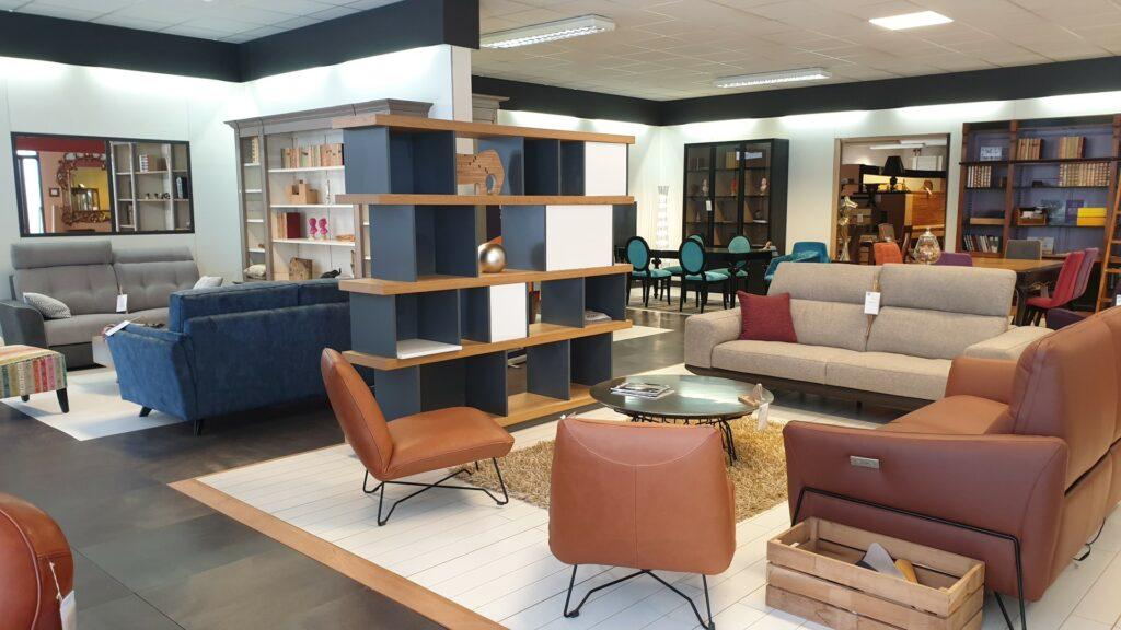 bibliothèque ou séparateur de pièce VILLE D'HIVER fabriqué dans les ateliers Meubles Loizeau