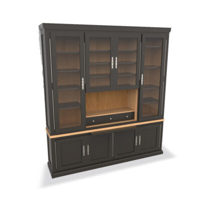 bibliotheque ou vaisselier ALMA fabriqué chez Meubles Loizeau